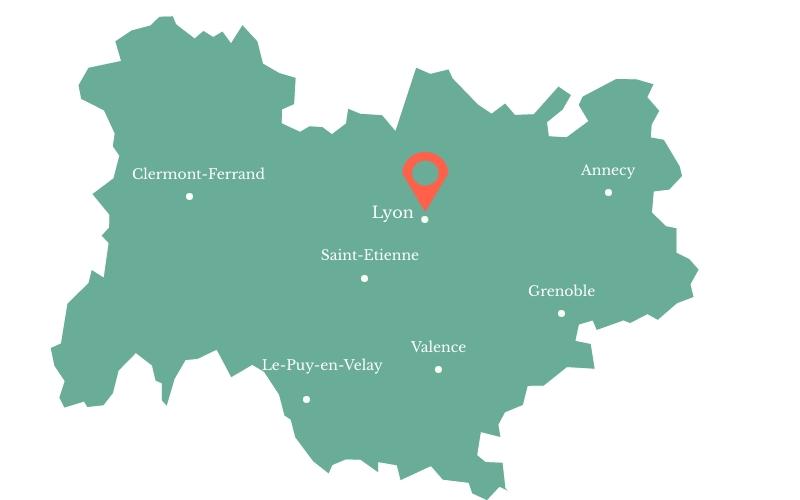 Carte Auvergne-Rhône-Alpes